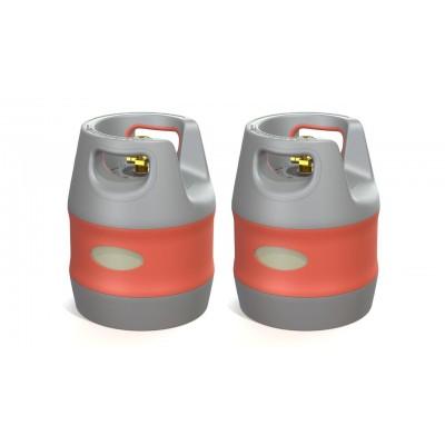 A2 Kit de 2 botellas en 12, 18 y 24 litros