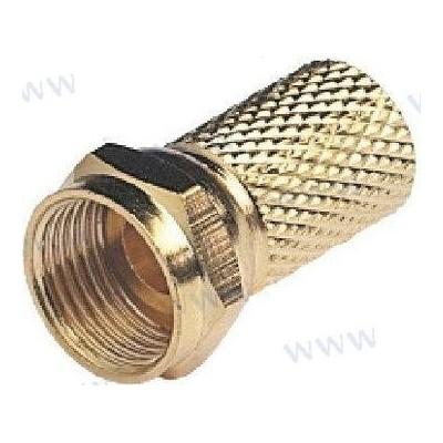 CONECTOR F MACHO GOLD PARA RG6 Y RG59
