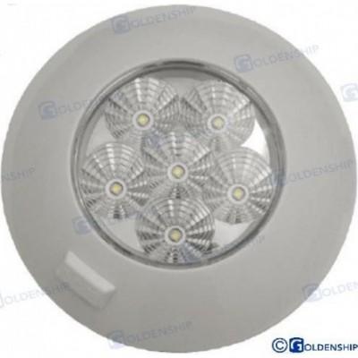 PLAFON INTERIOR LED 6W 12V-28V BLANCO