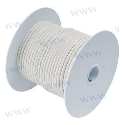 CABLE MARINO 16 AWG 1mm² Blanco - 30 m